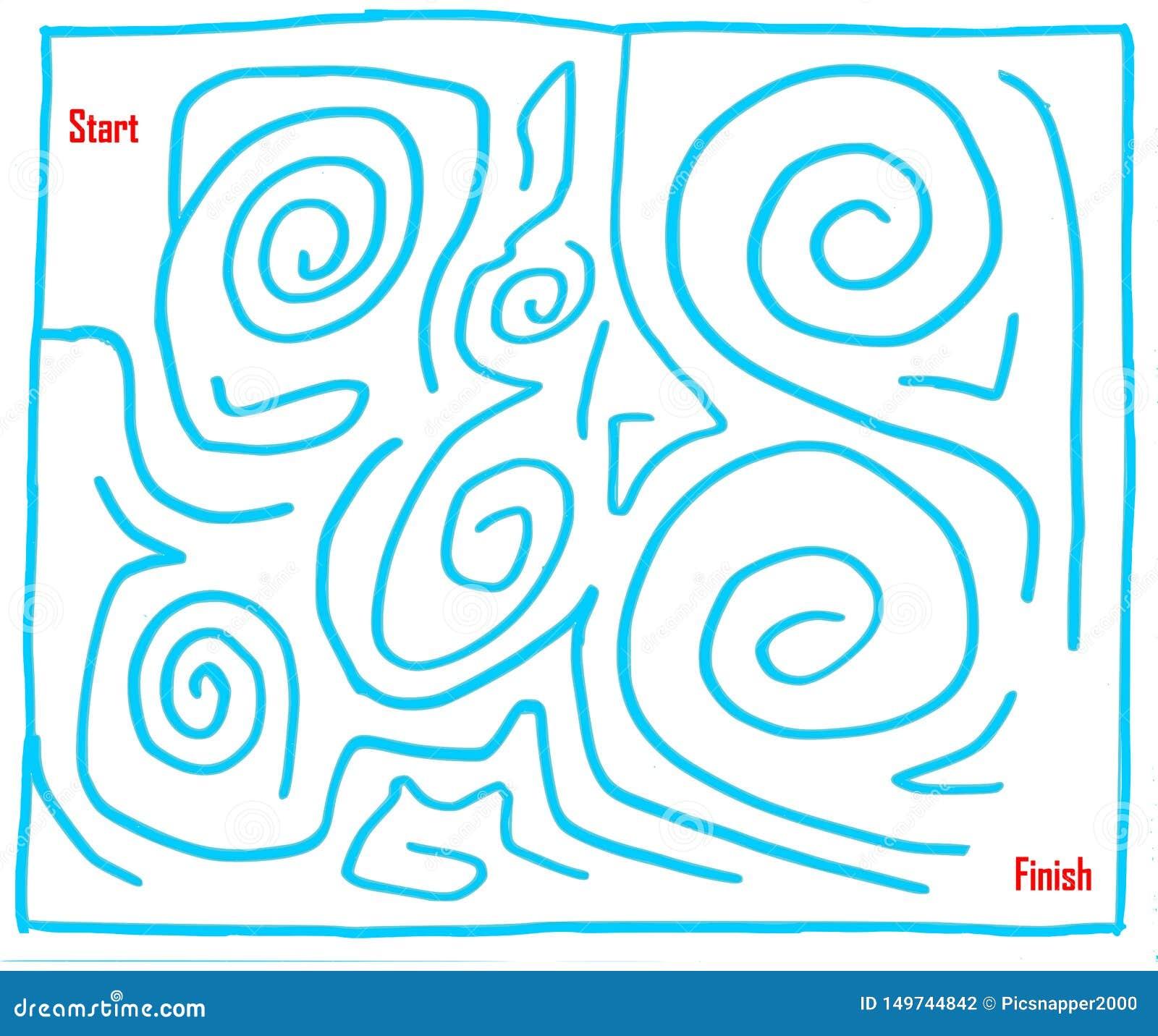 手拉的迷宫第六,非常容易,深蓝