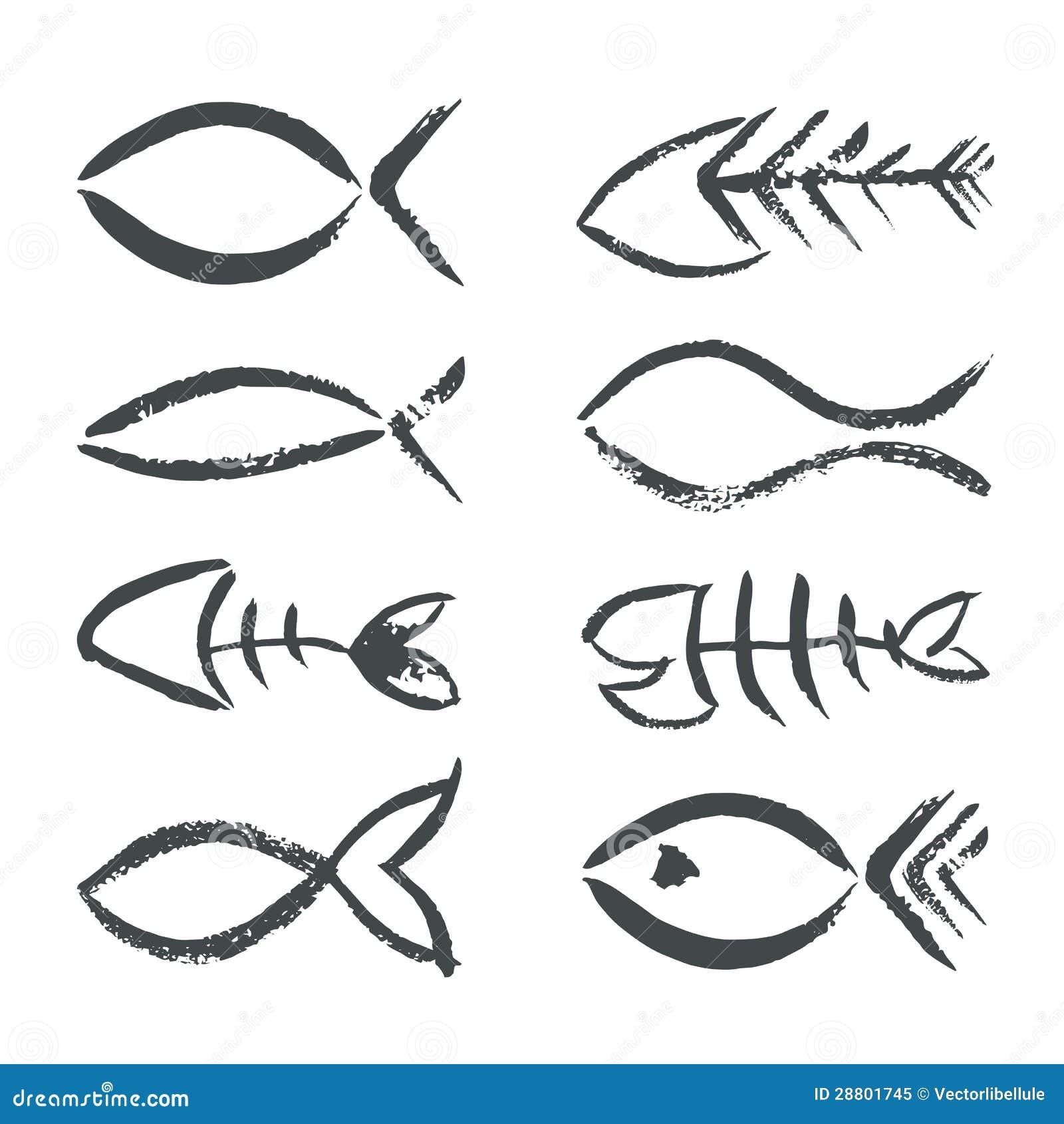 手拉的鱼符号图片