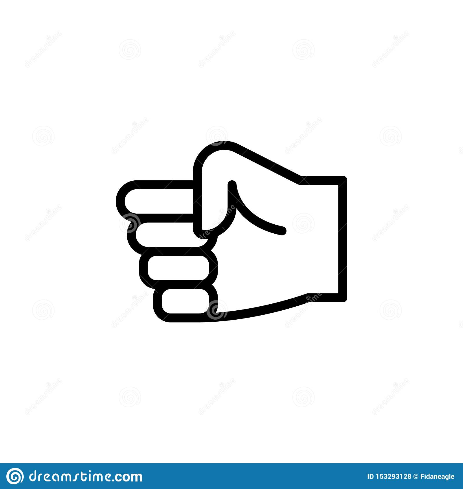 手拳头姿态概述象 手势例证象的元素 标志,标志可以为网,商标,流动应用程序使用,