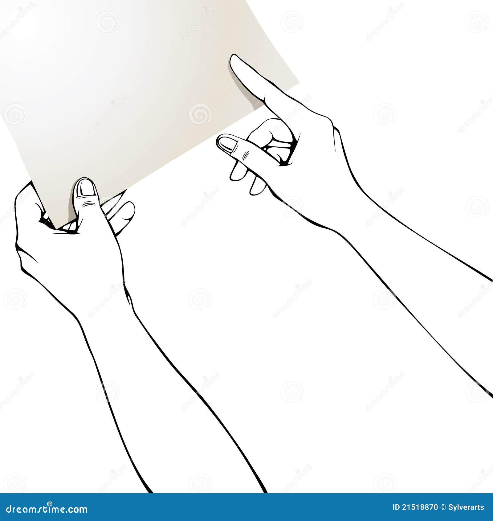 手指递纸指向图片
