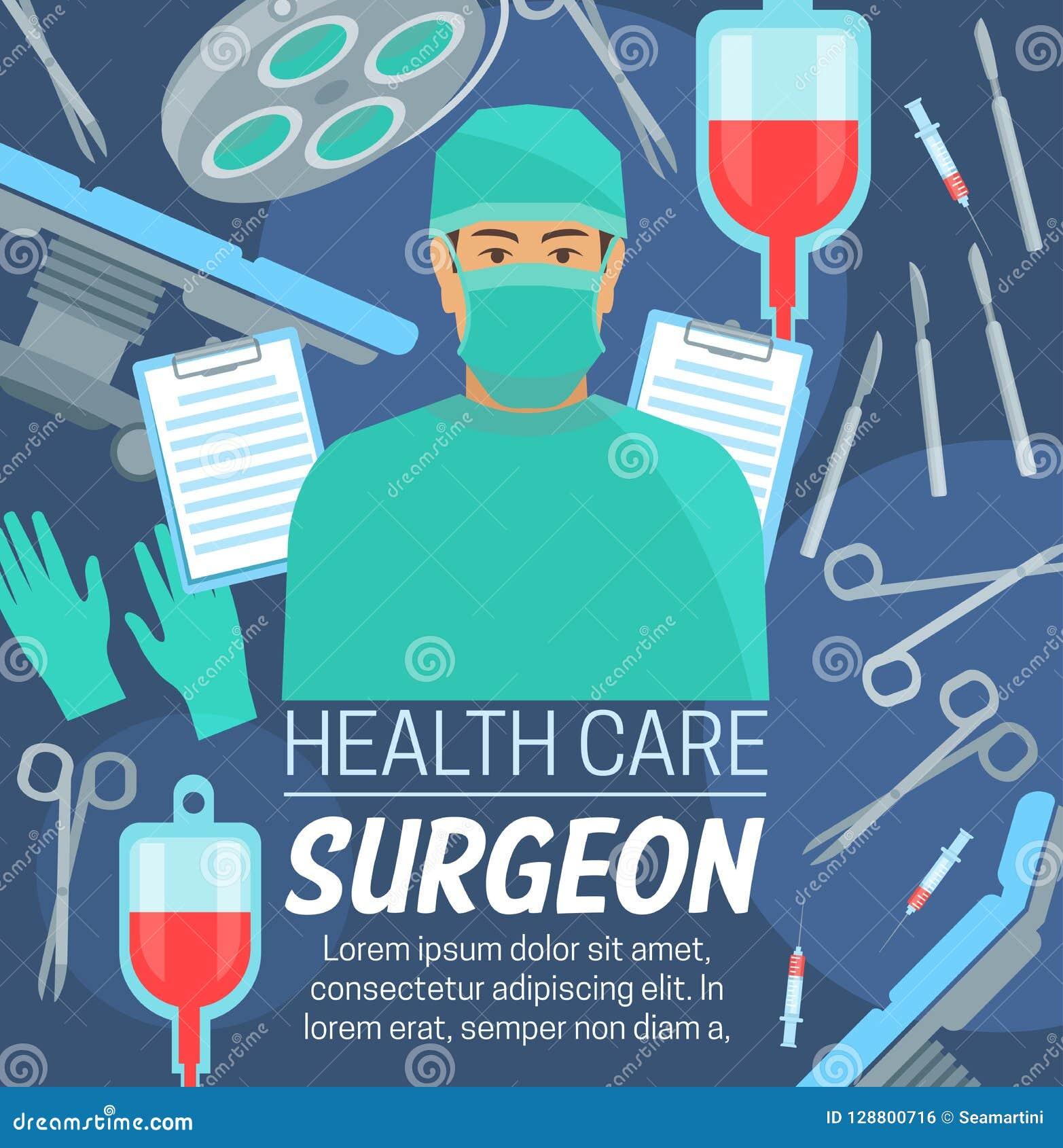 手术医疗中心,面具的外科医生