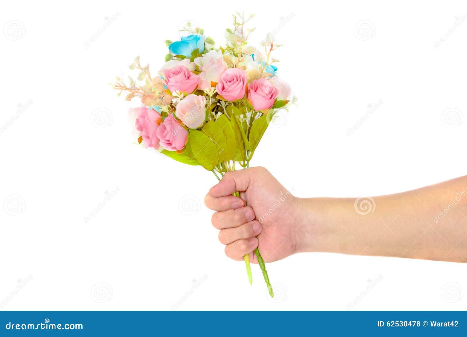 手藏品玫瑰色花束