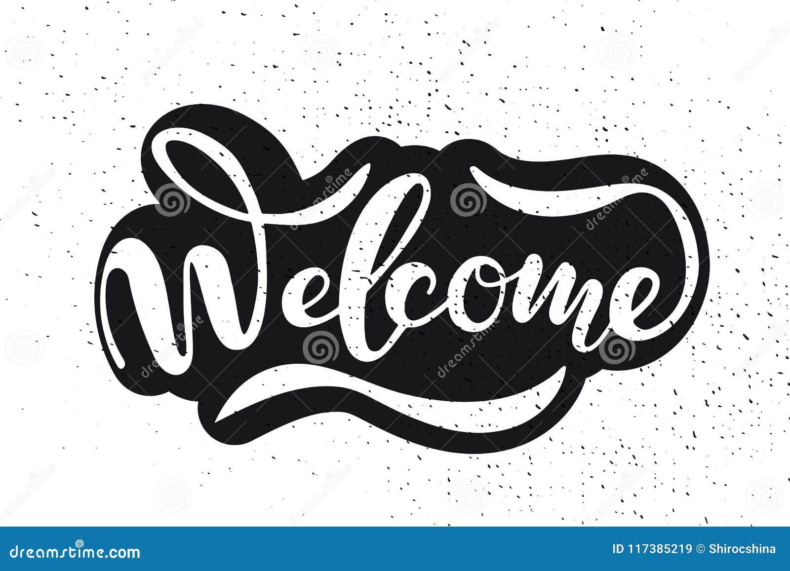手速写的受欢迎的字法印刷术 拉长的艺术标志 诱导文本
