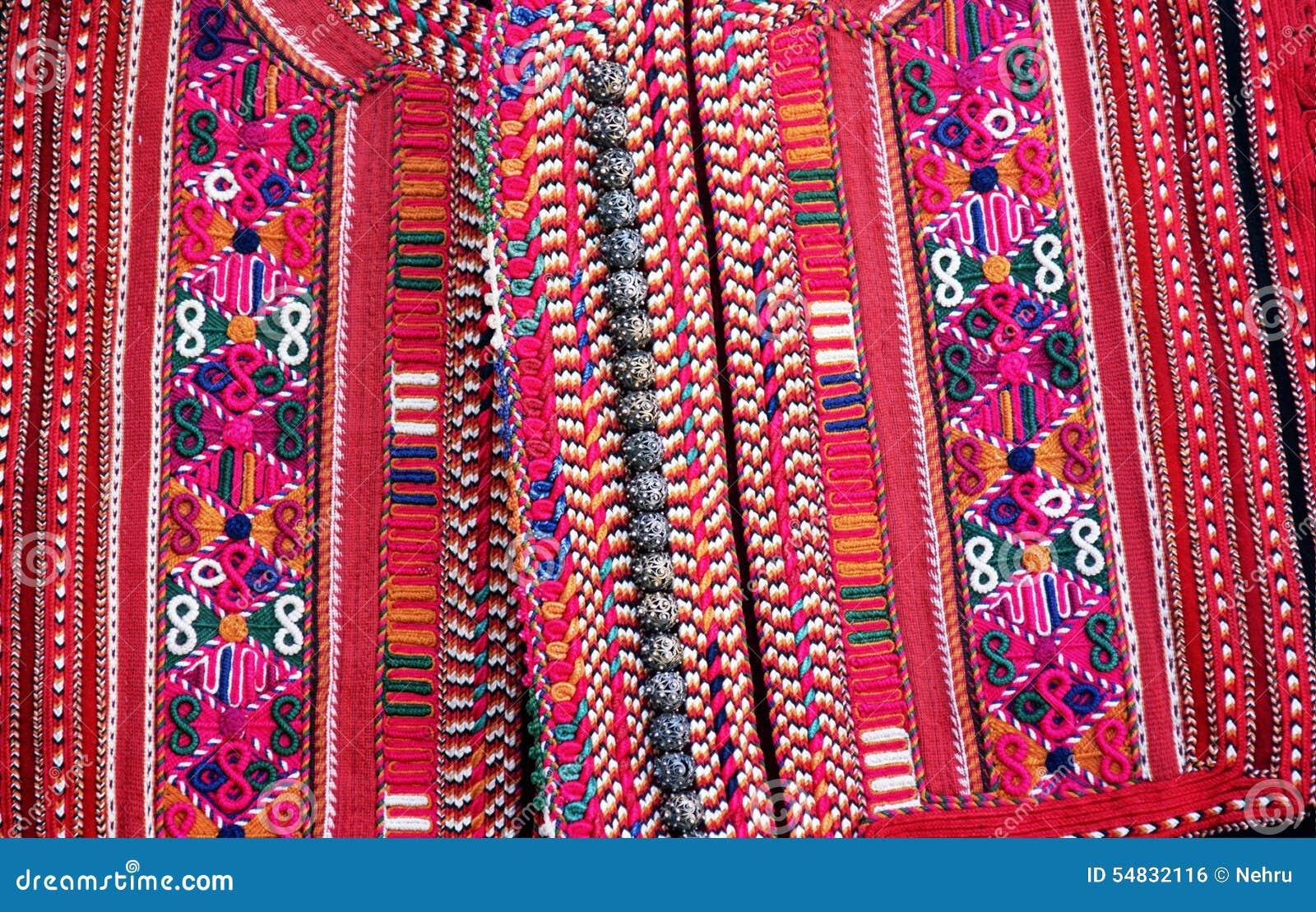 手织的传统马其顿背心