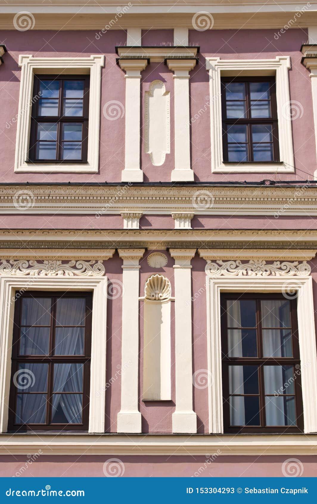 扎莫希奇波兰,建筑学7月2019年,老镇