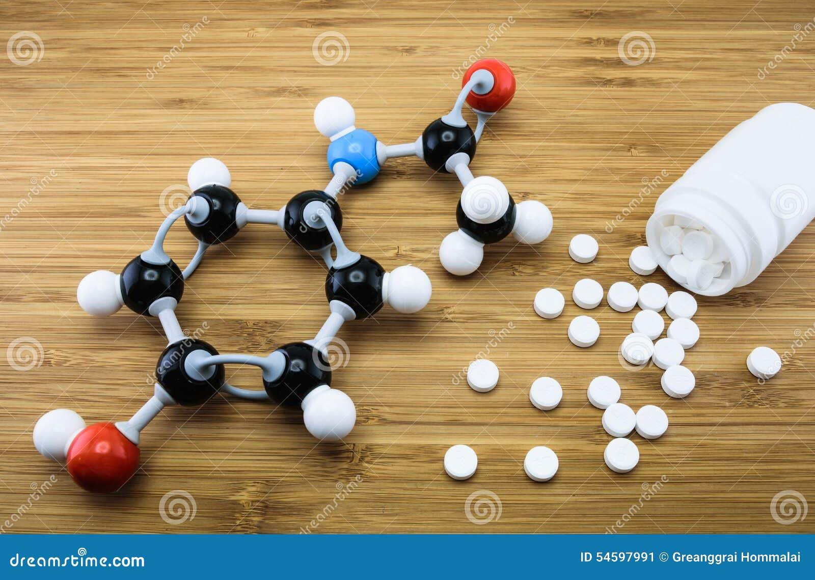 扑热息痛分子结构