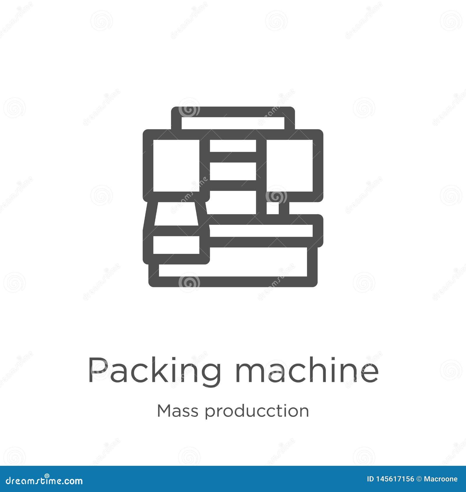 打包机从许多producction收藏的象传染媒介 稀薄的线打包机概述象传染媒介例证 ??