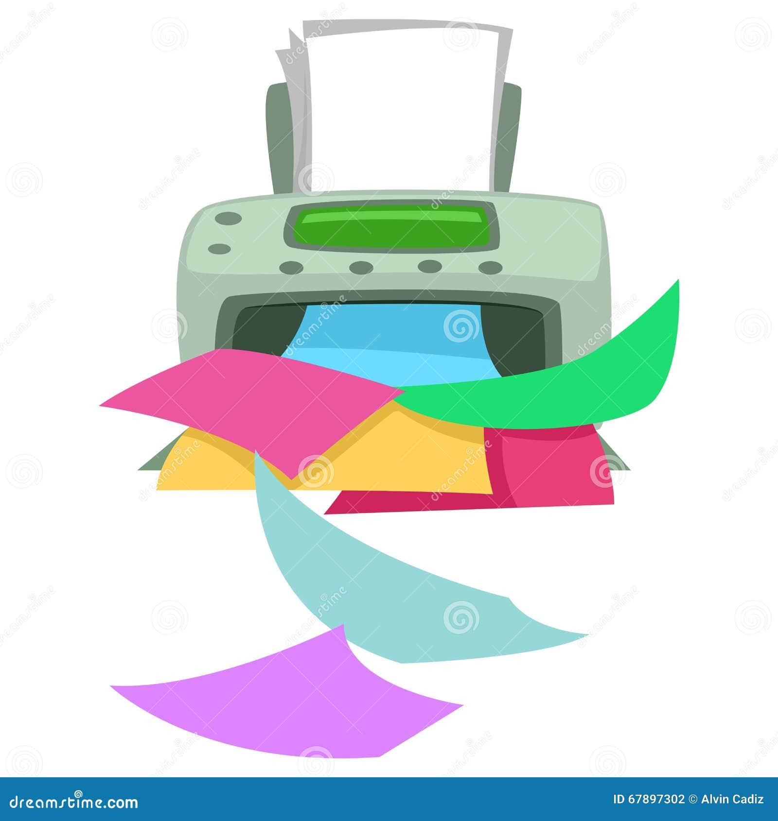 打印五颜六色的报纸的打印机