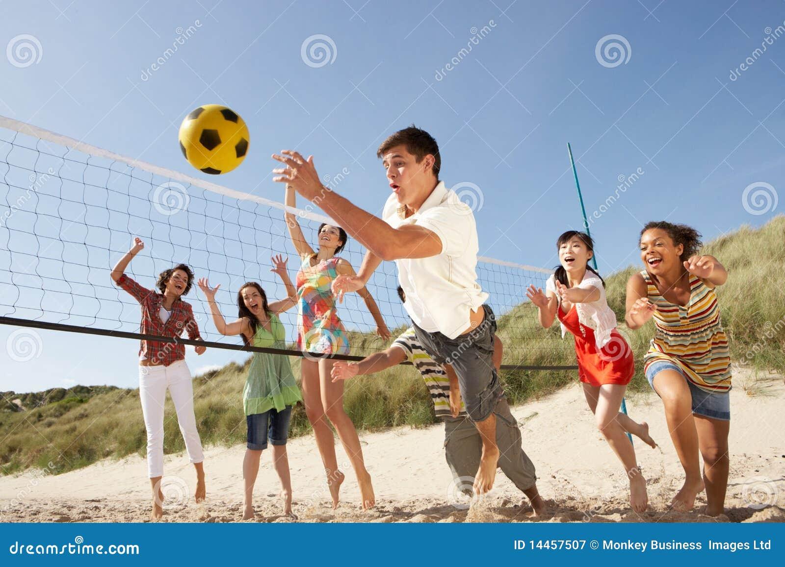 打少年排球的海滩朋友