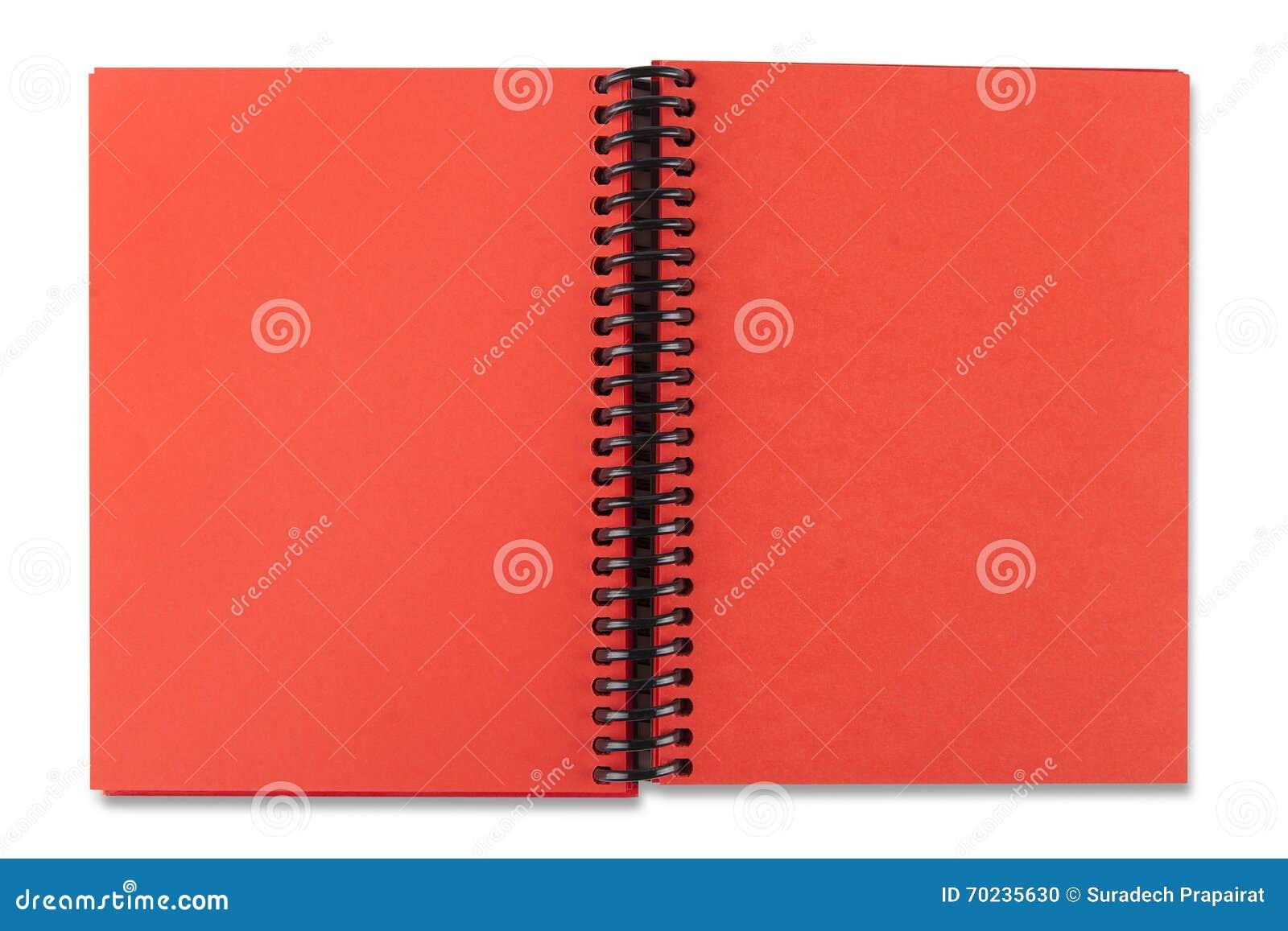 打开红色纸笔记本