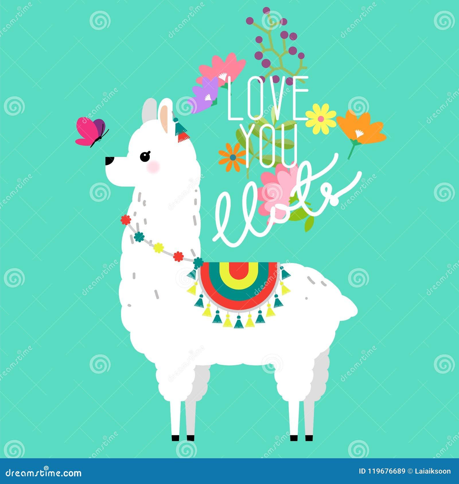 托儿所的逗人喜爱的骆马和羊魄例证设计,海报、问候、生日贺卡、婴儿送礼会设计和党装饰