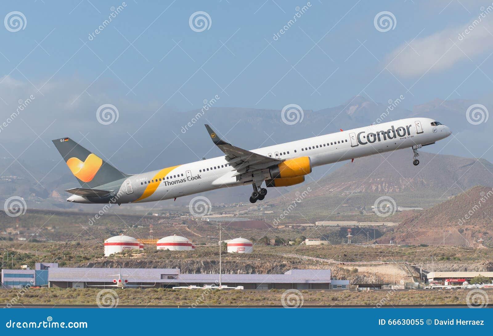 特内里费岛,西班牙- 1月31 :托马斯厨师神鹰波音757-300从2016年1月31
