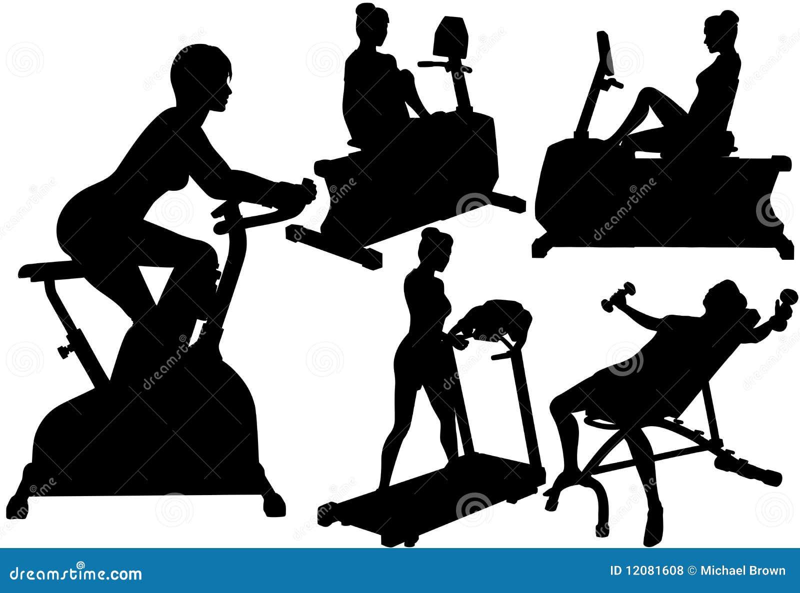 执行健身体操妇女锻炼
