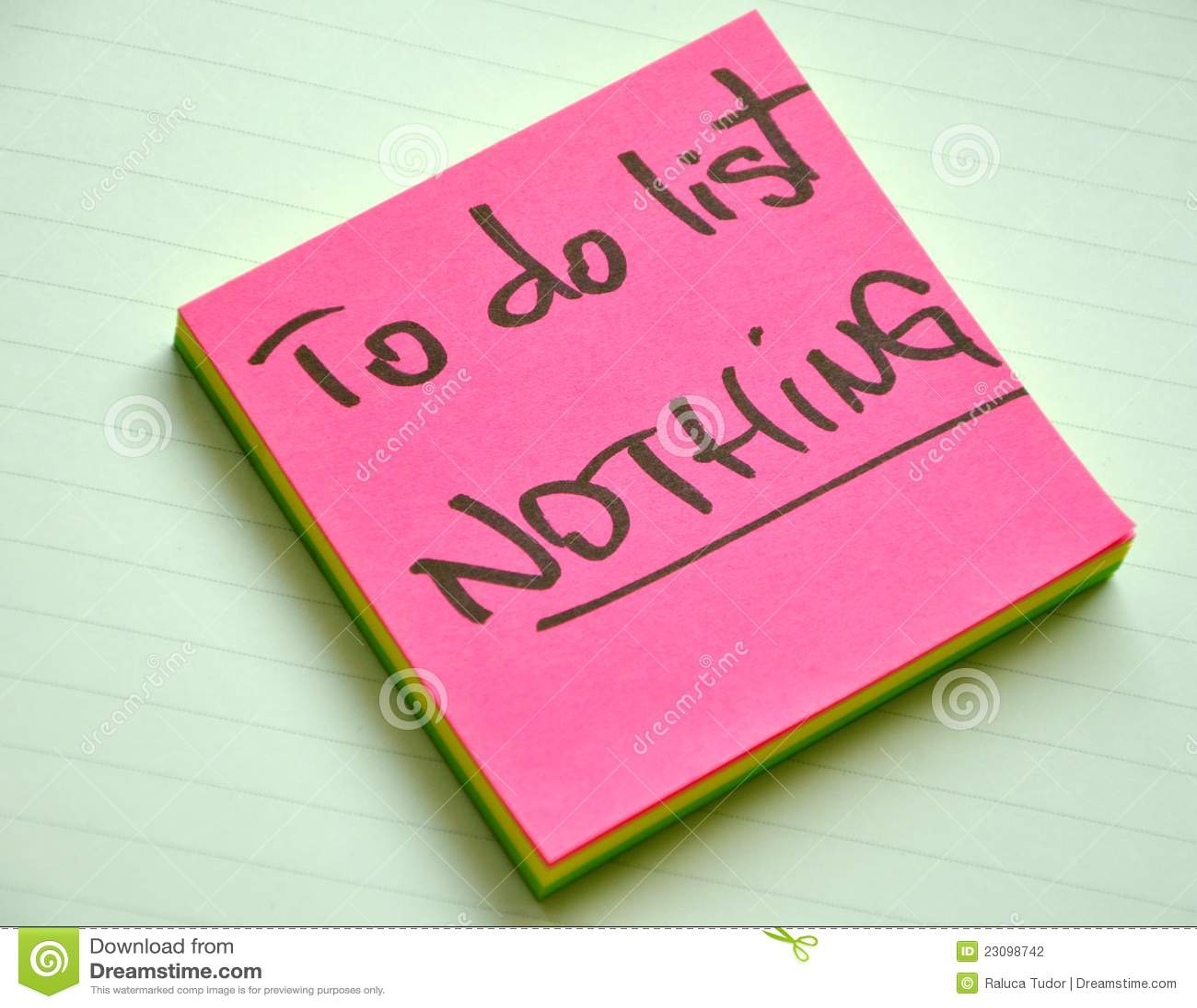 执行列表: 没什么。 懒惰概念