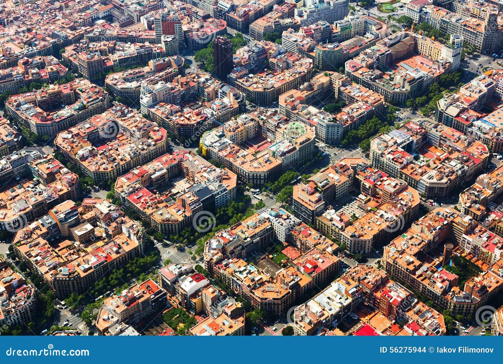 扩展区区鸟瞰图  巴塞罗那