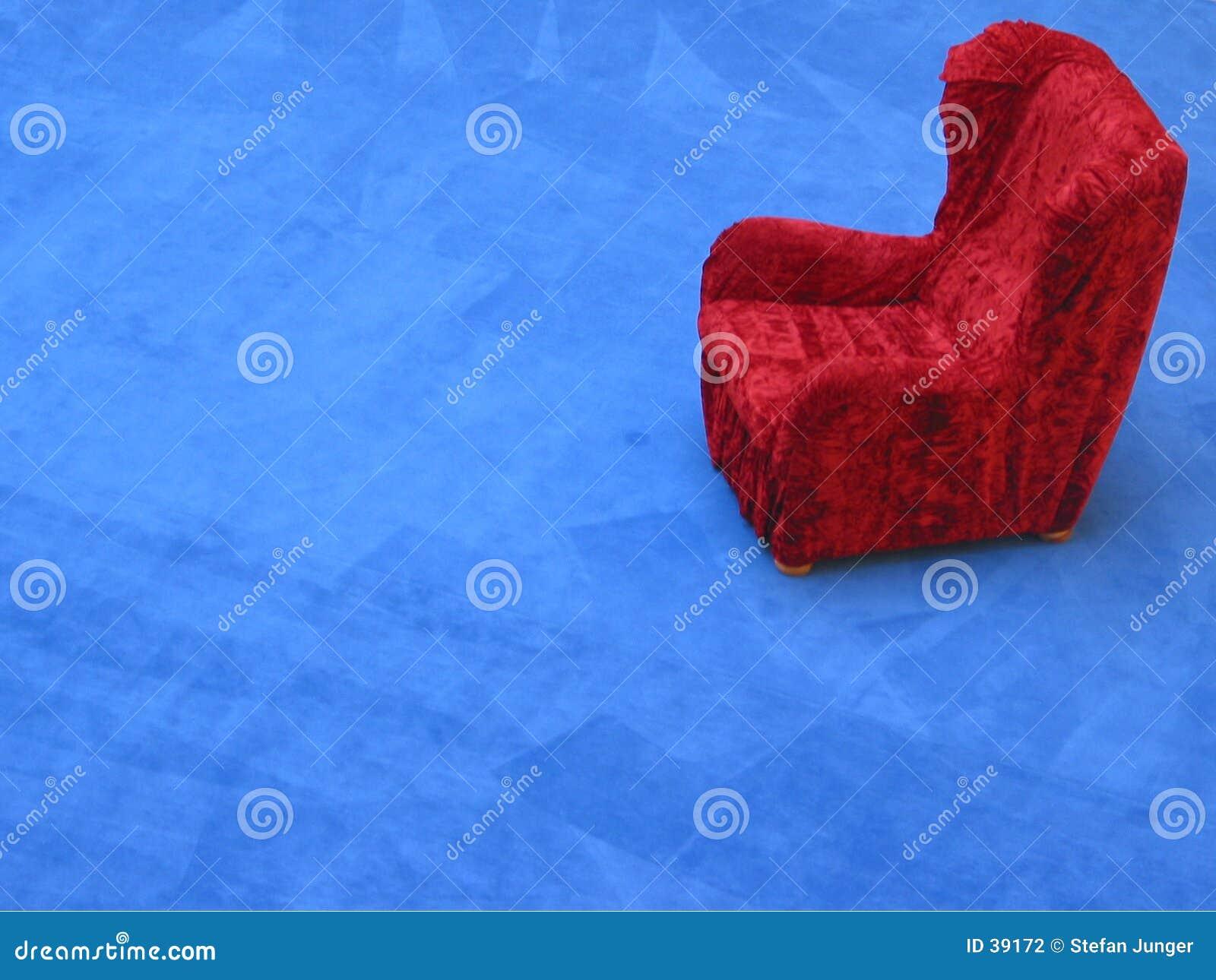 扶手椅子红色