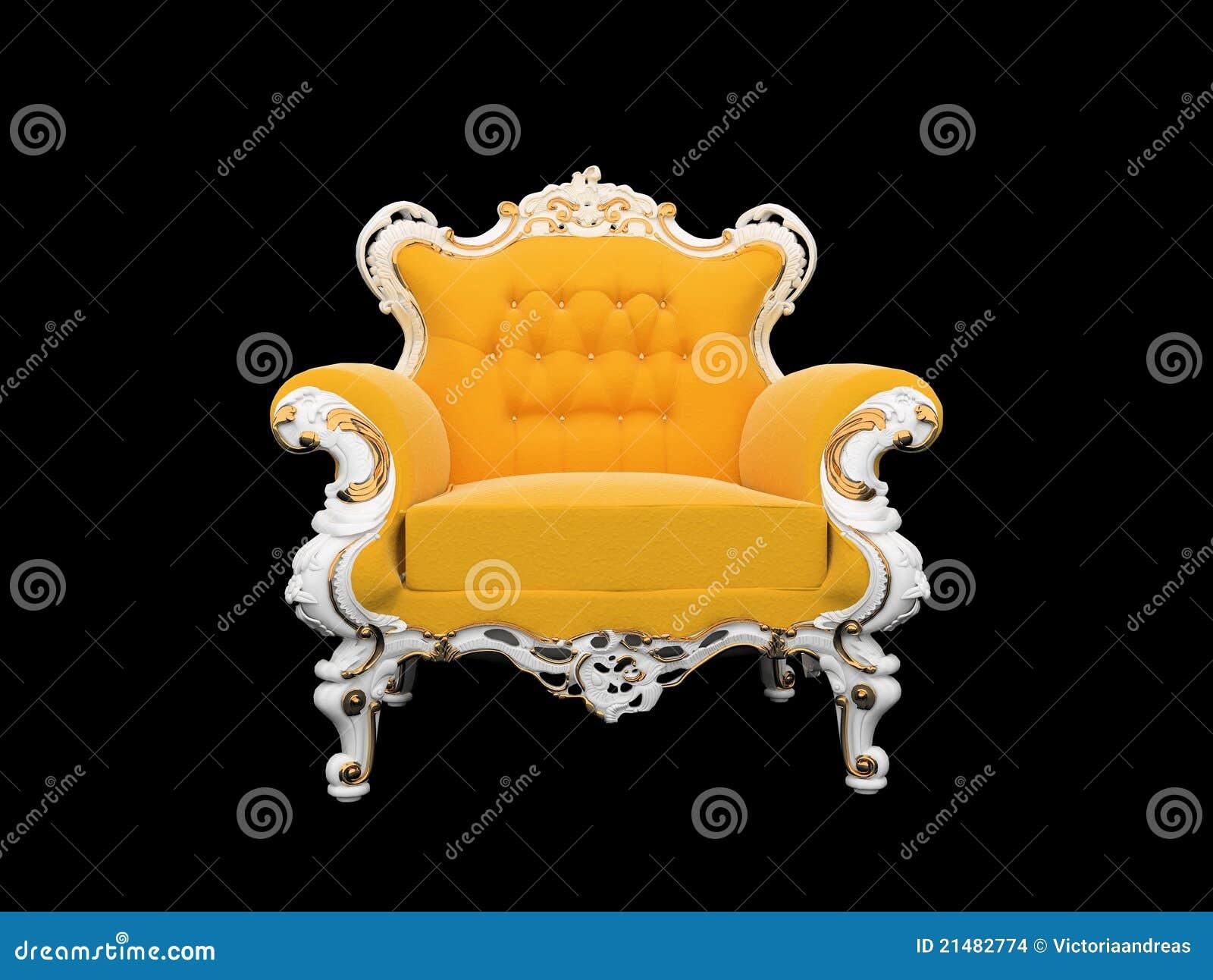 扶手椅子背景黑色查出的现代