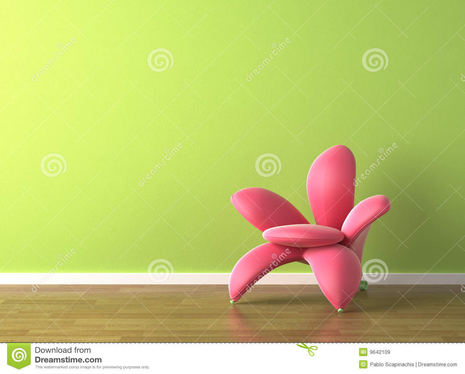扶手椅子设计花内部粉红色塑造了