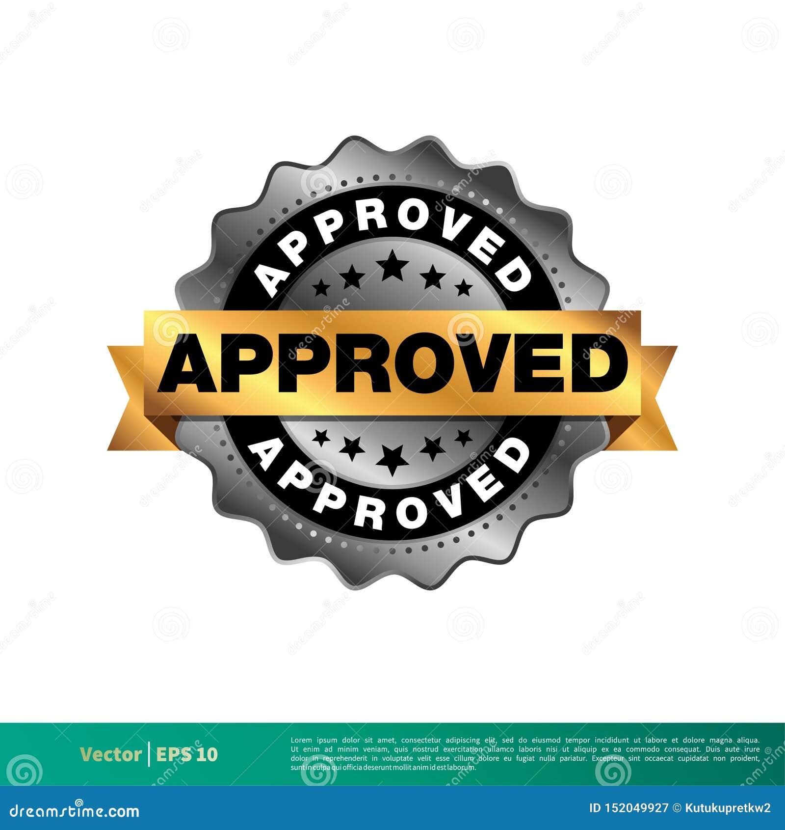批准的封印横幅传染媒介模板例证设计 o