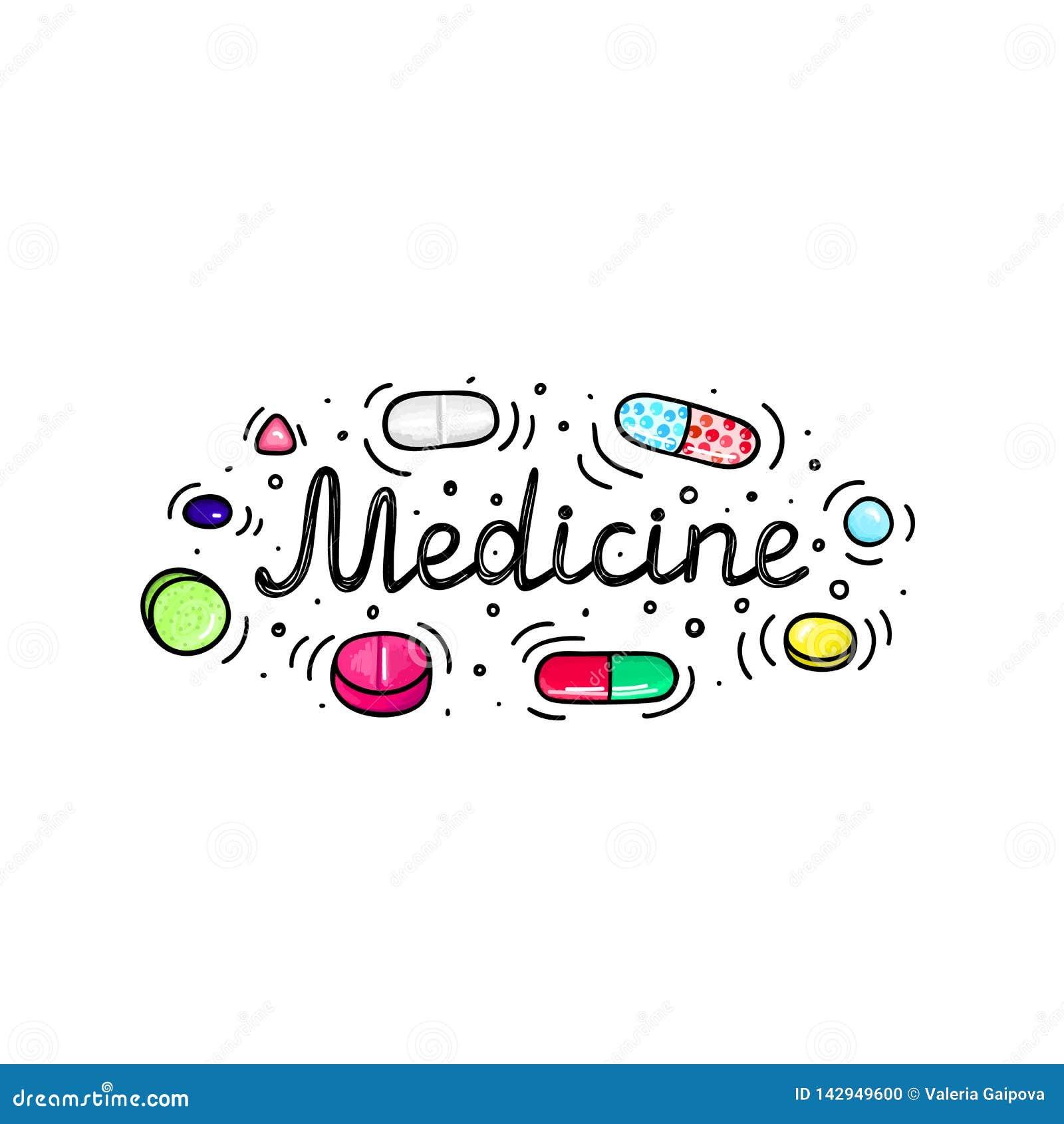 批次药片和胶囊 医学或膳食补充剂 健康生活方式 酒精标志样式 乱画