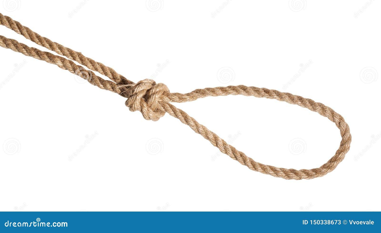 扼杀在黄麻绳索栓的圈套结被隔绝
