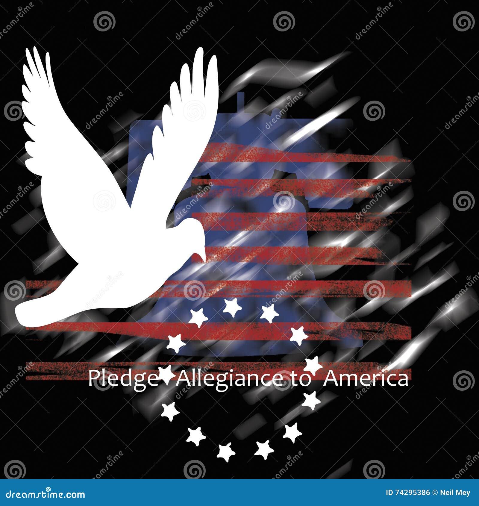 承诺忠诚向美国