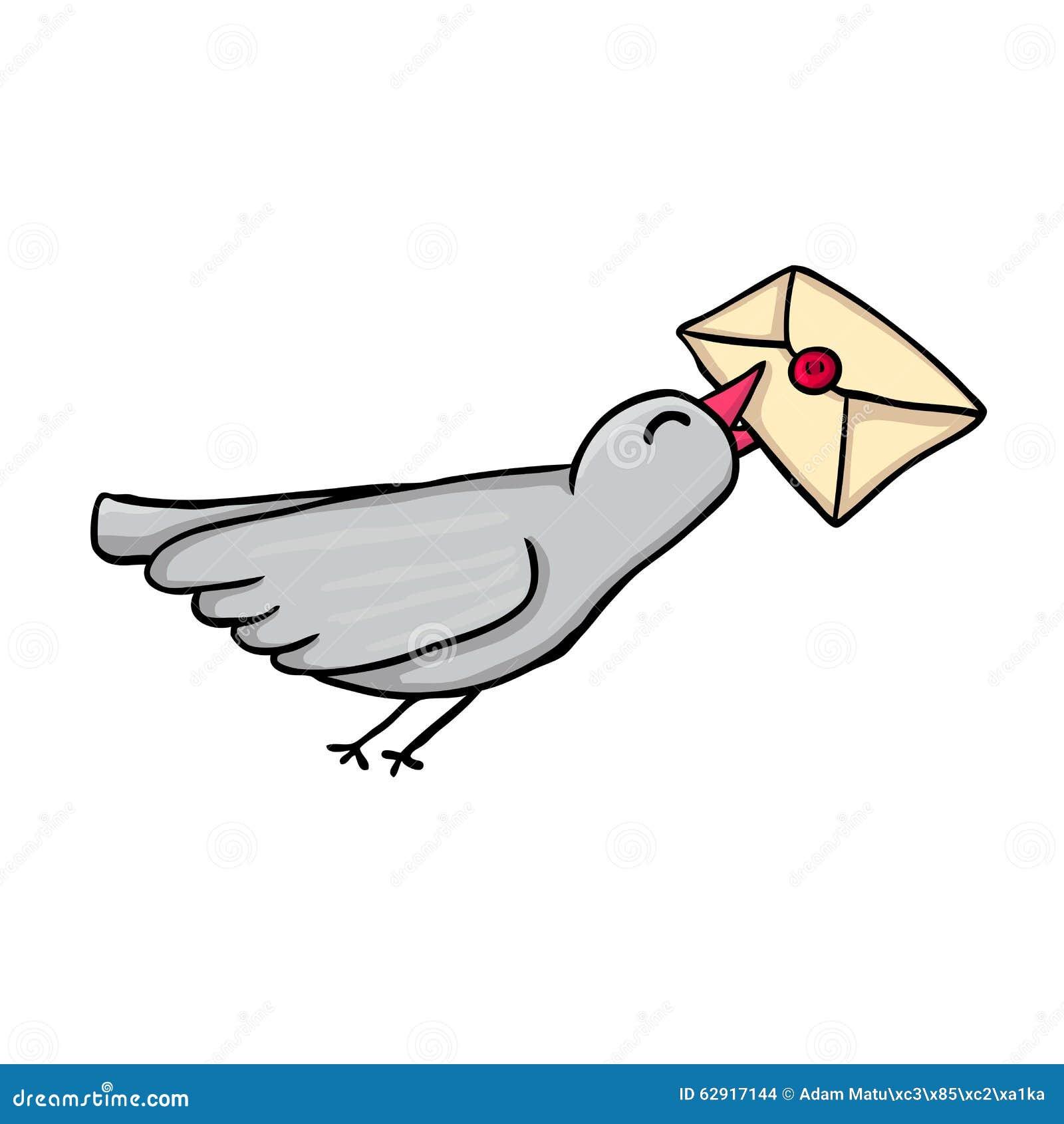 承运人发运飞行邮件鸽子