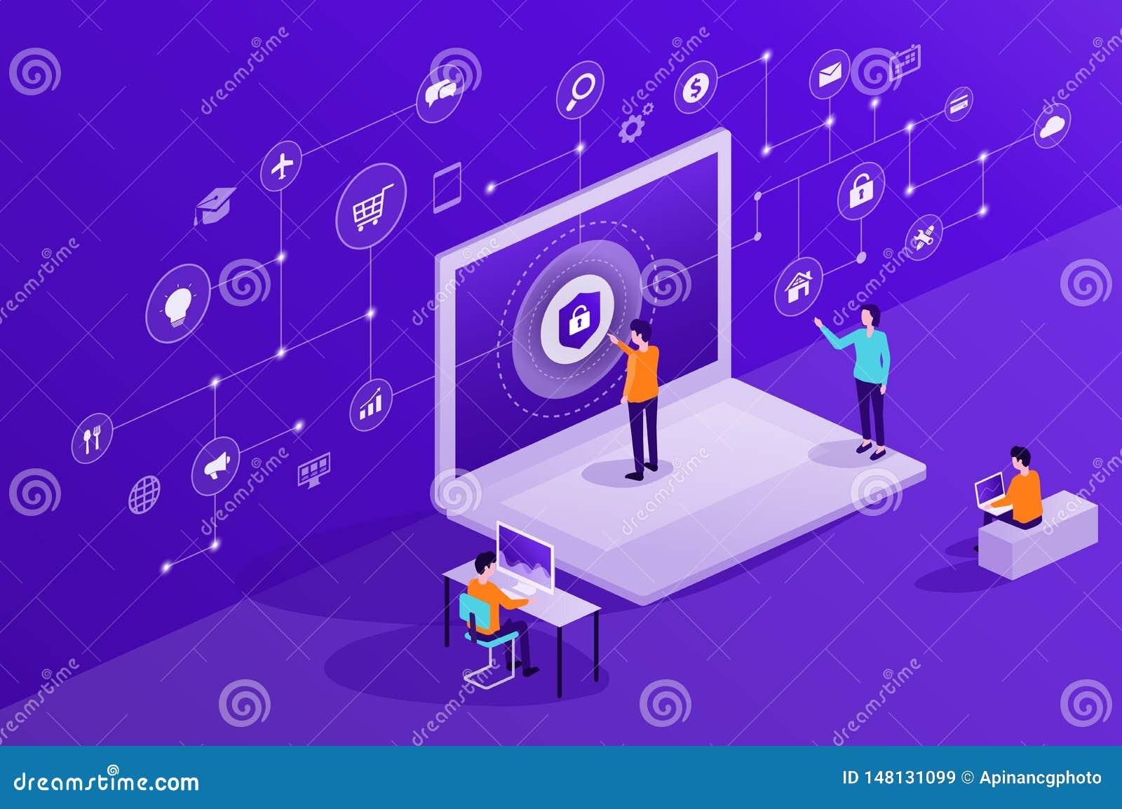 技术互联网网络安全和数据保密网上网络连接