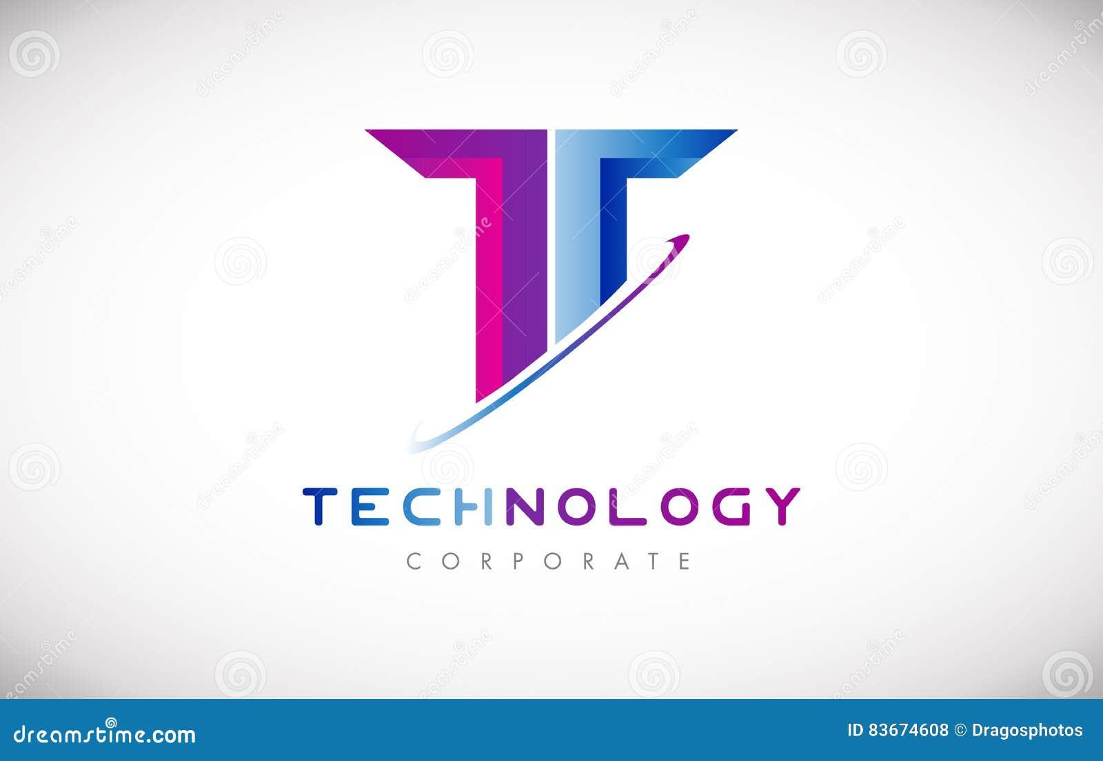 技术信件T字母表商标象设计