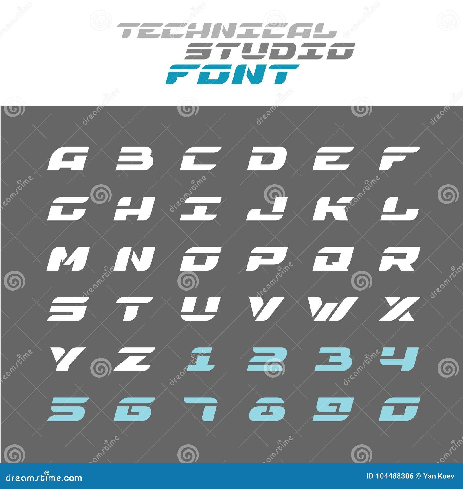 技术在钢板蜡纸字体上写字 宽techno字母表