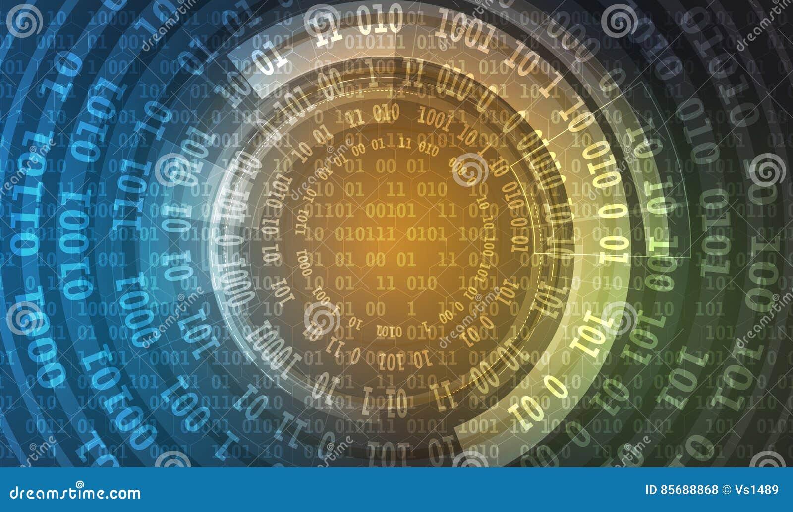 技术安全概念 现代安全数字式背景