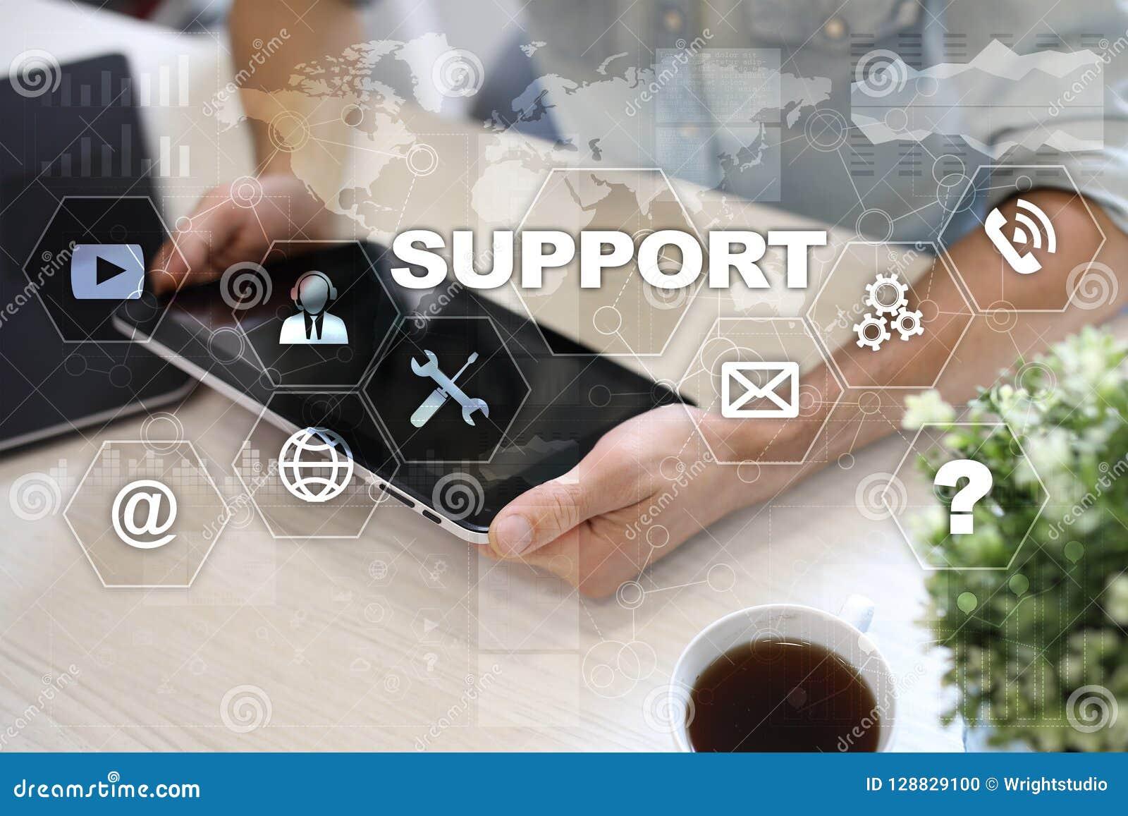 技术支持和顾客服务 企业和技术概念