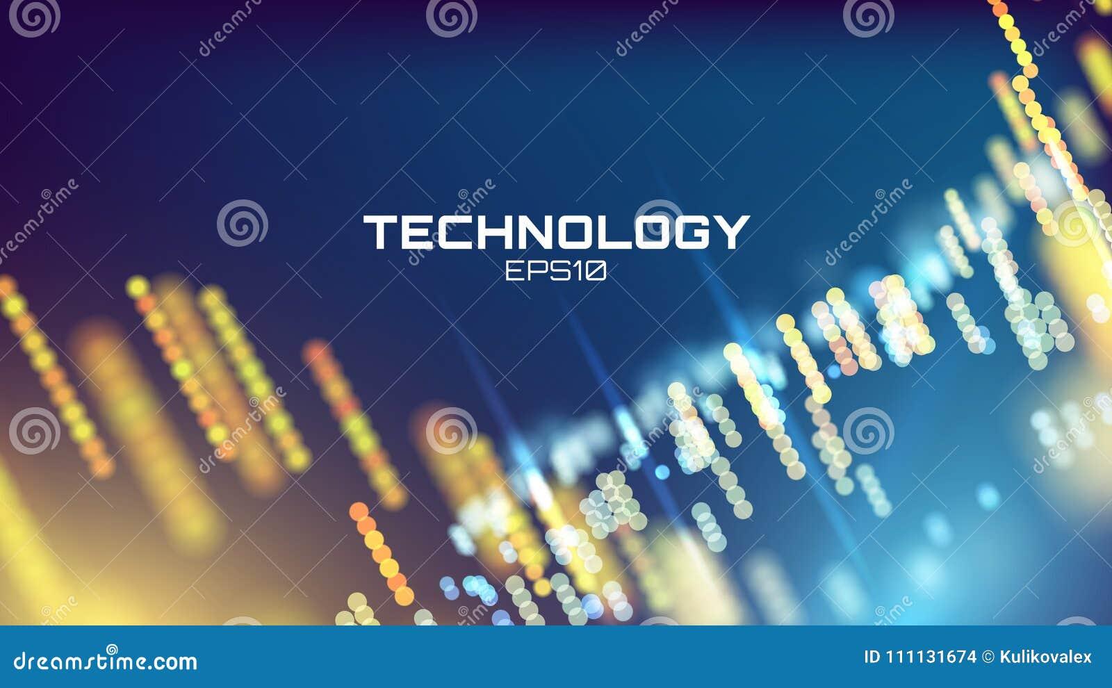 技术背景 霓虹焕发栅格墙纸 科学形象化