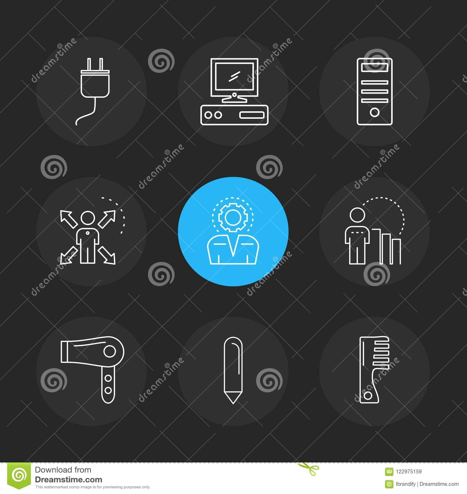 技术,象,电子, eps象设置了传染媒介