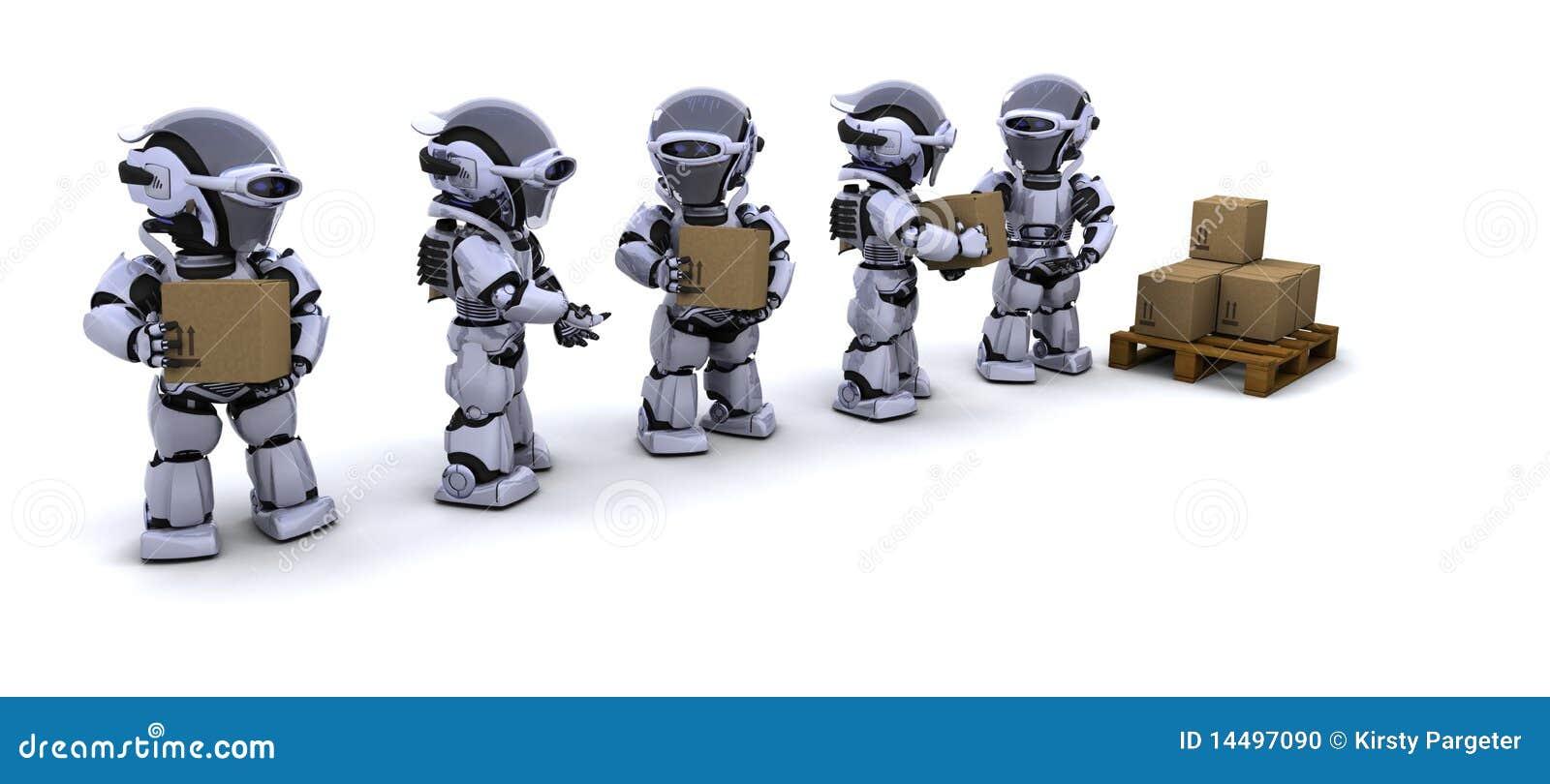 把移动机器人发运装箱