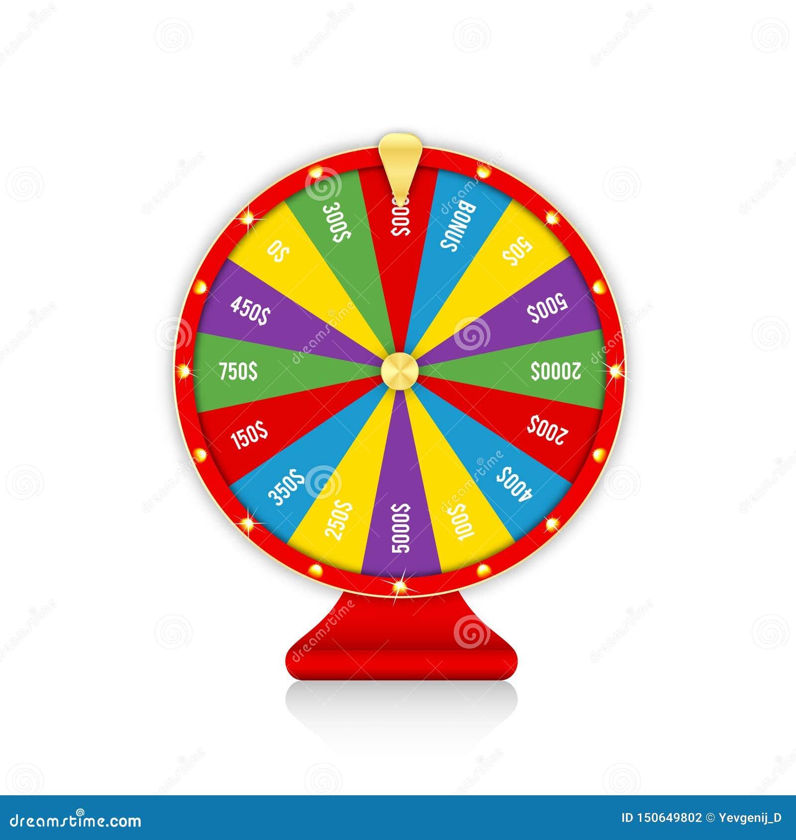 抓阄转轮,五颜六色的转动的时运轮子 抽奖的,赌博娱乐场比赛现实轮盘赌设计