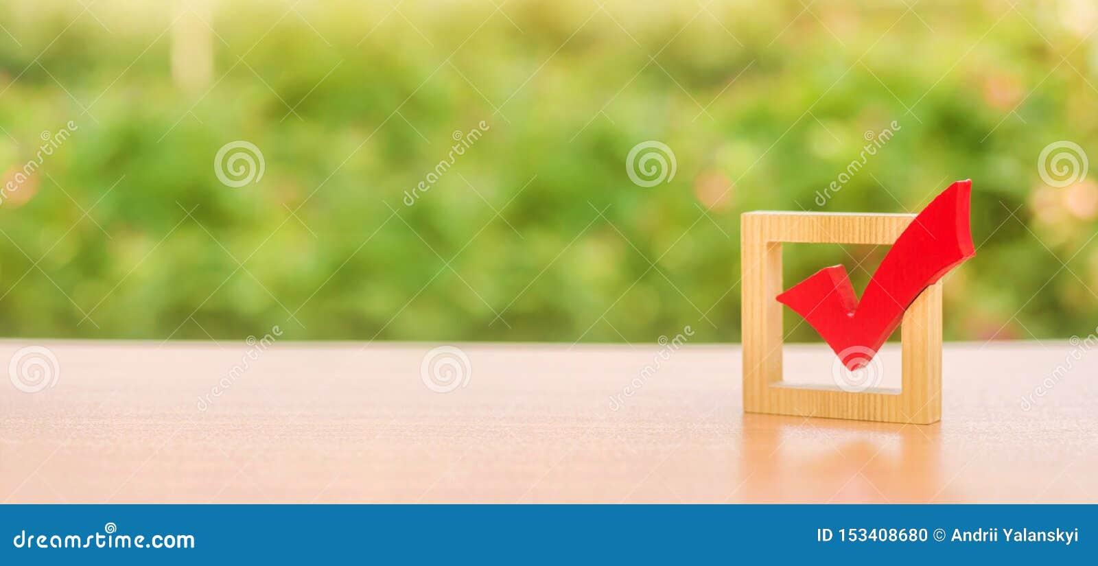 投票表决的红色木检查号竞选 总统的职务或议会选举,公民投票 民主和自由 ??
