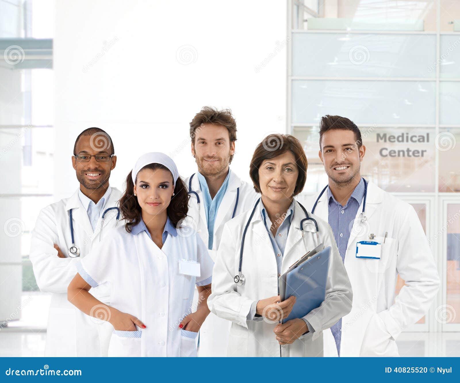 医护人员小组画象诊所的