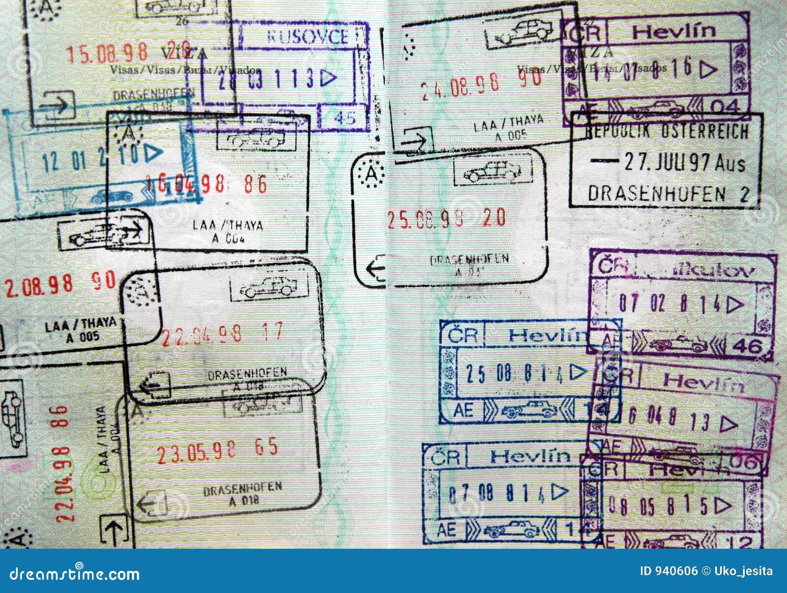 护照标记签证世界