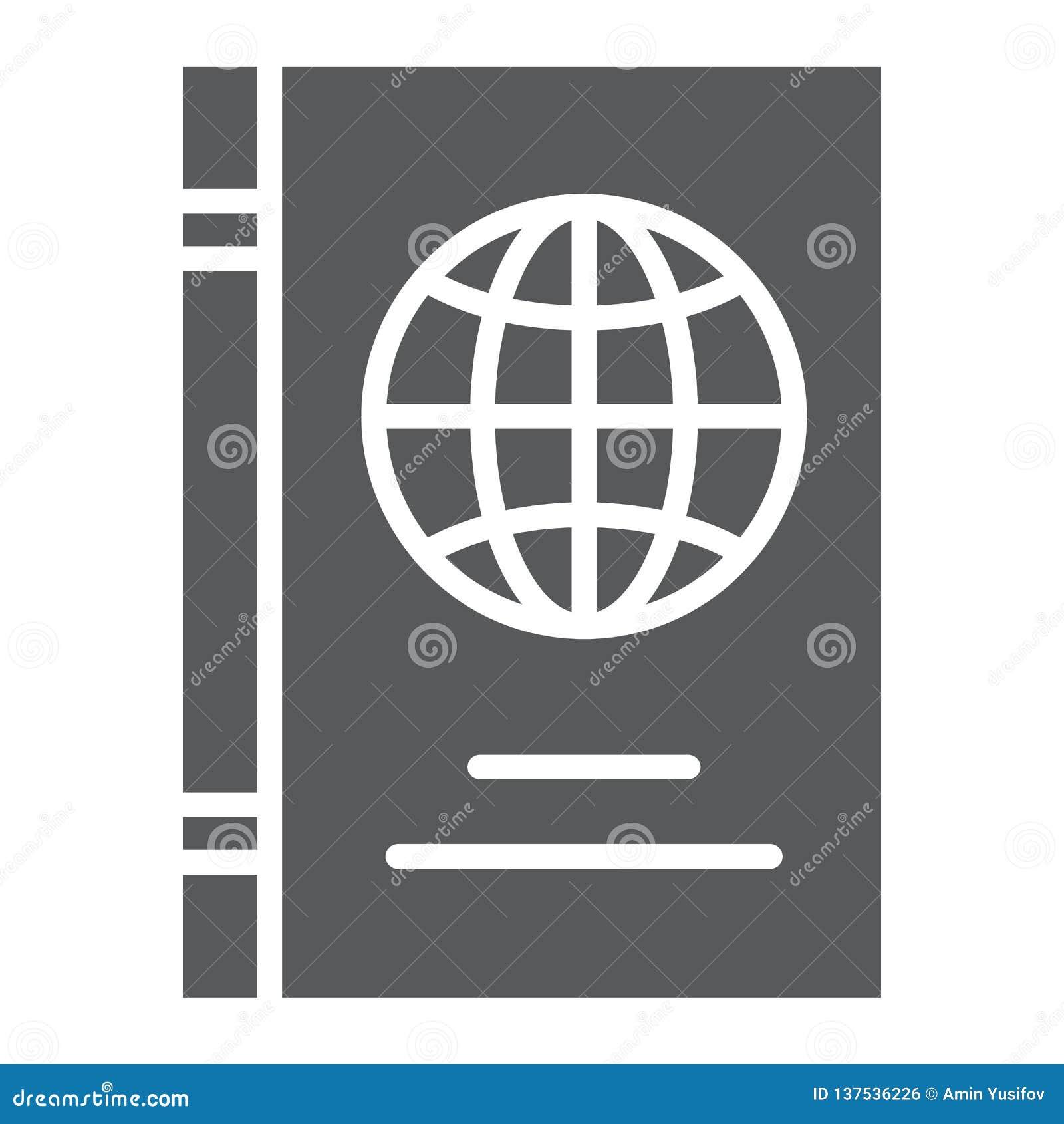 护照纵的沟纹象、证明和旅行,身分证标志,向量图形,在白色的一个坚实样式