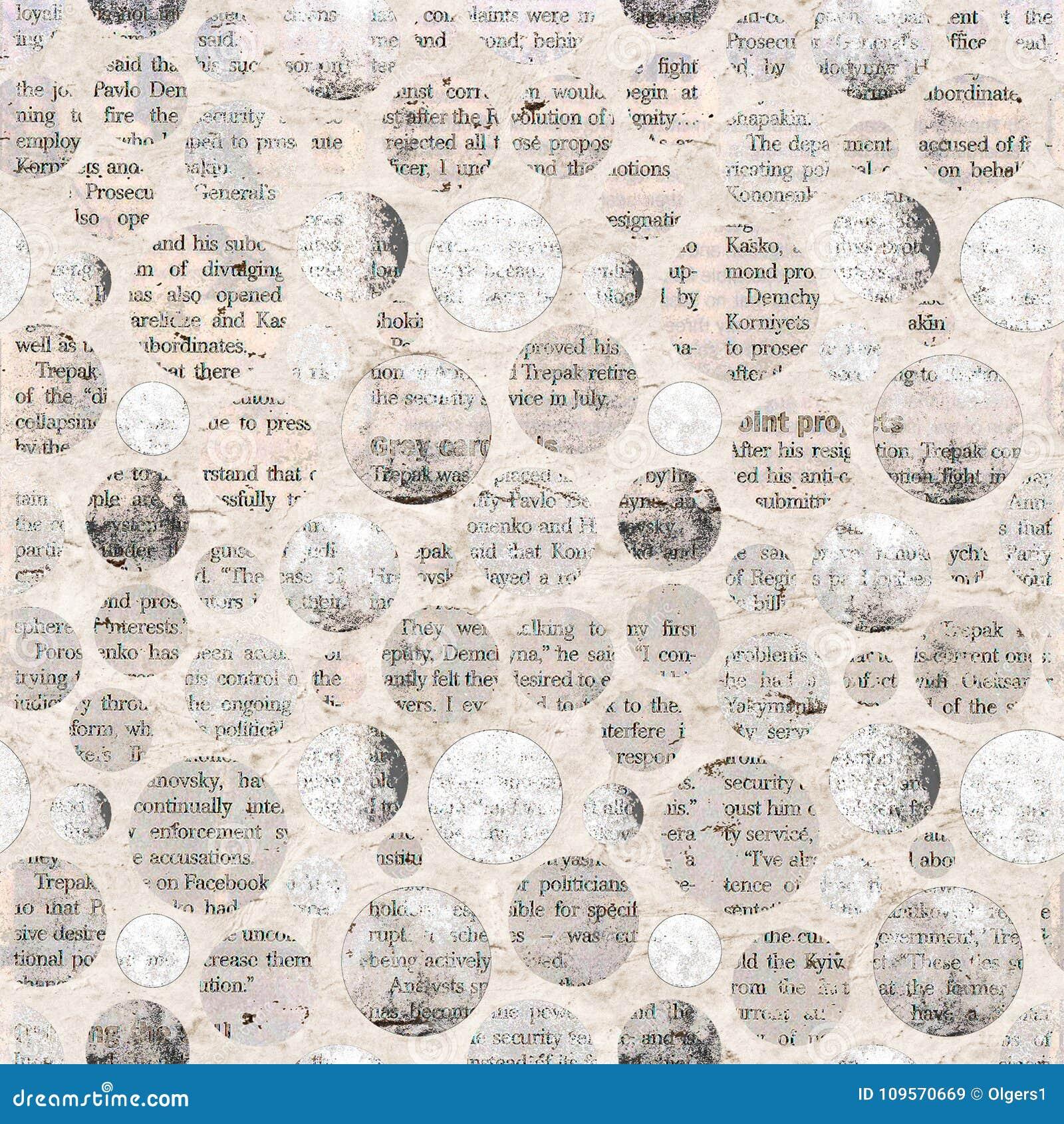 报纸与混杂的文本的拼贴画剪报