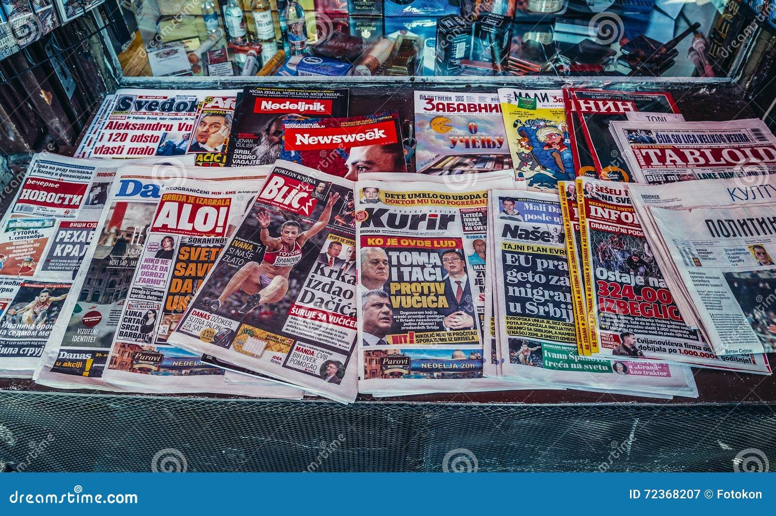 报纸在贝尔格莱德
