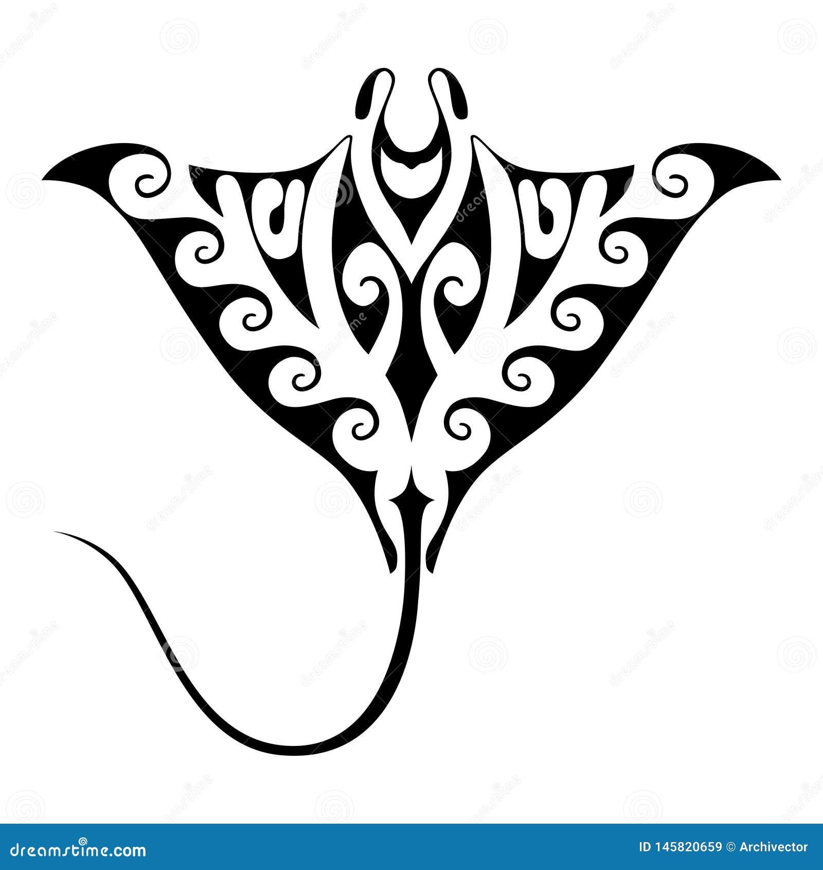 披巾纹身花刺