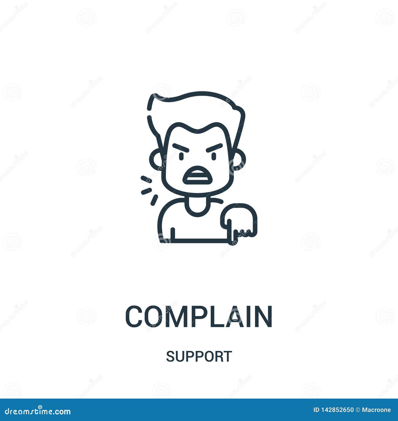 抱怨从支持汇集的象传染媒介 稀薄的线抱怨概述象传染媒介例证 r