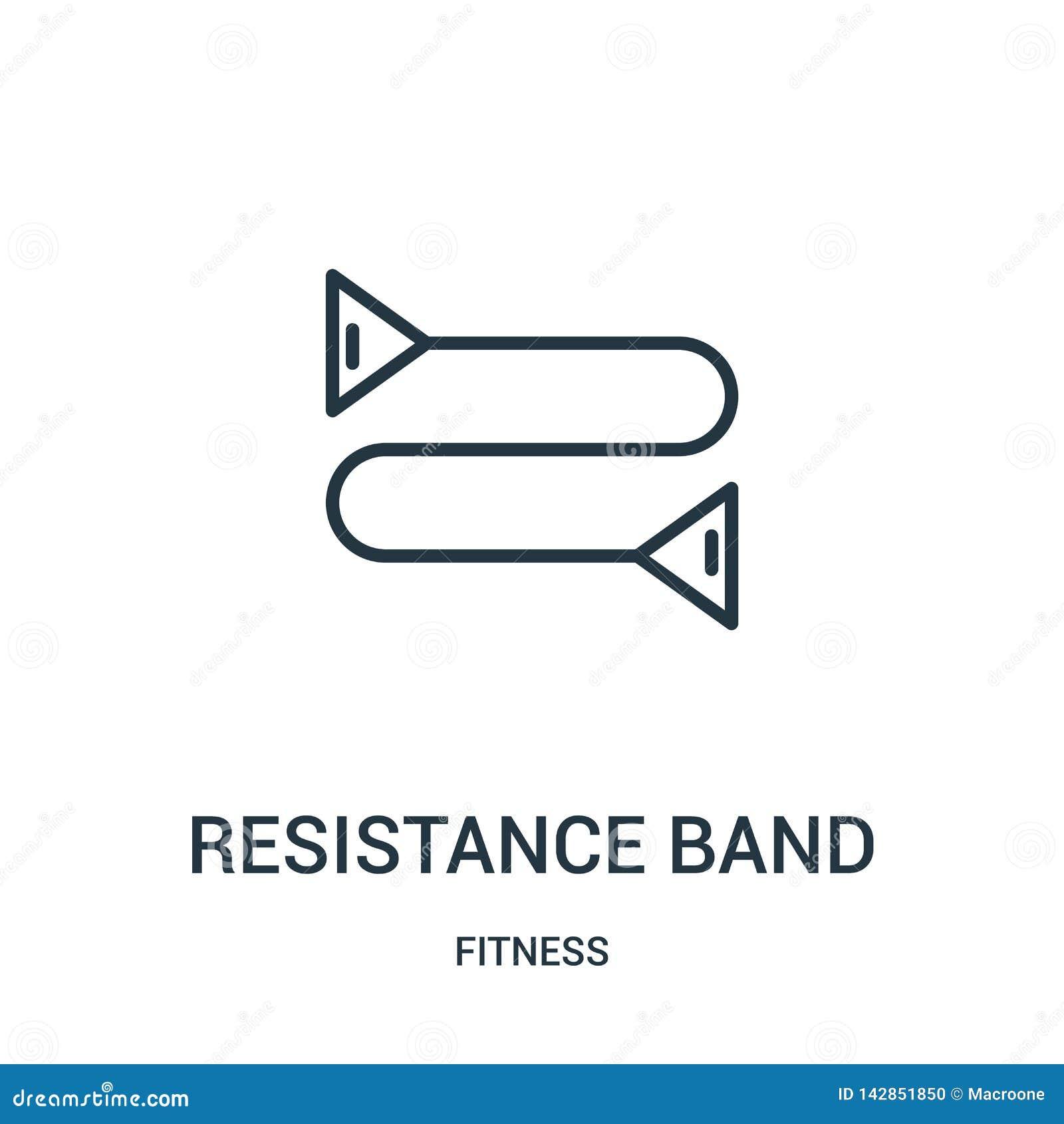 抵抗带从健身汇集的象传染媒介 稀薄的线抵抗带概述象传染媒介例证 线性标志为