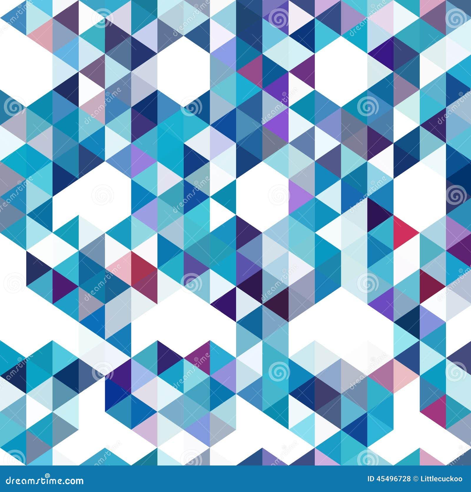 抽象三角几何多彩多姿的背景,传染媒介例证EPS10