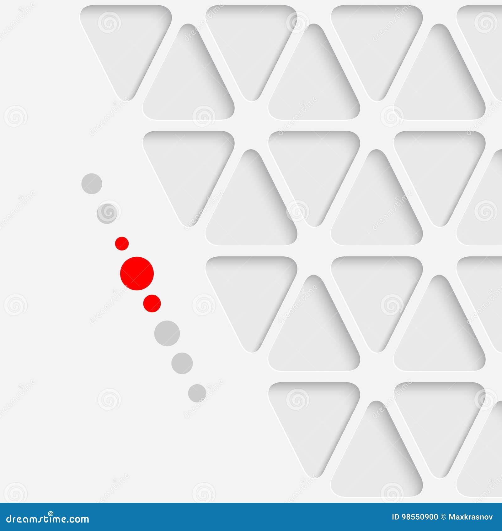 抽象三角图形设计 白色现代几何Backgro