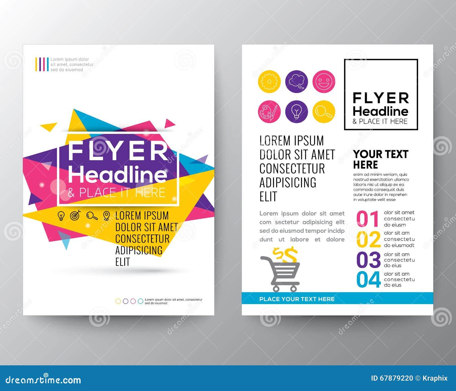 抽象三角形状海报小册子飞行物设计版面