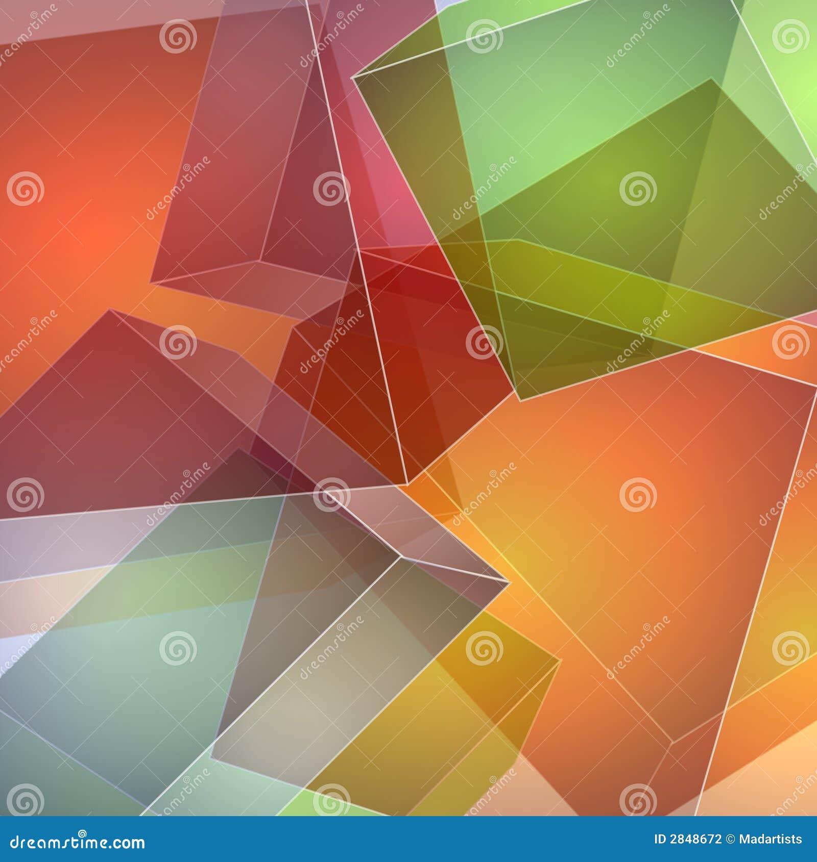 抽象不透明的正方形