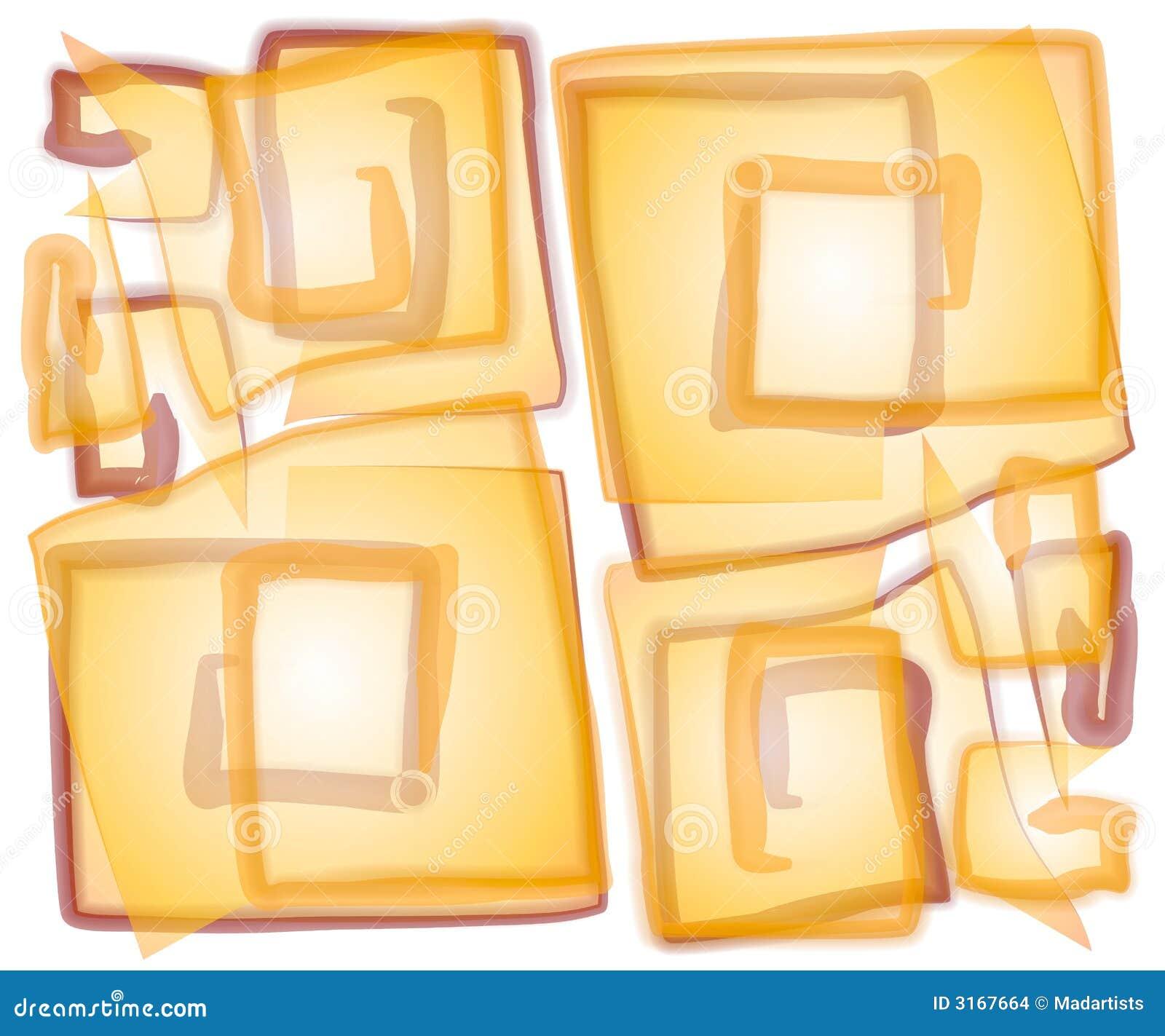 抽象不透明的螺旋正方形
